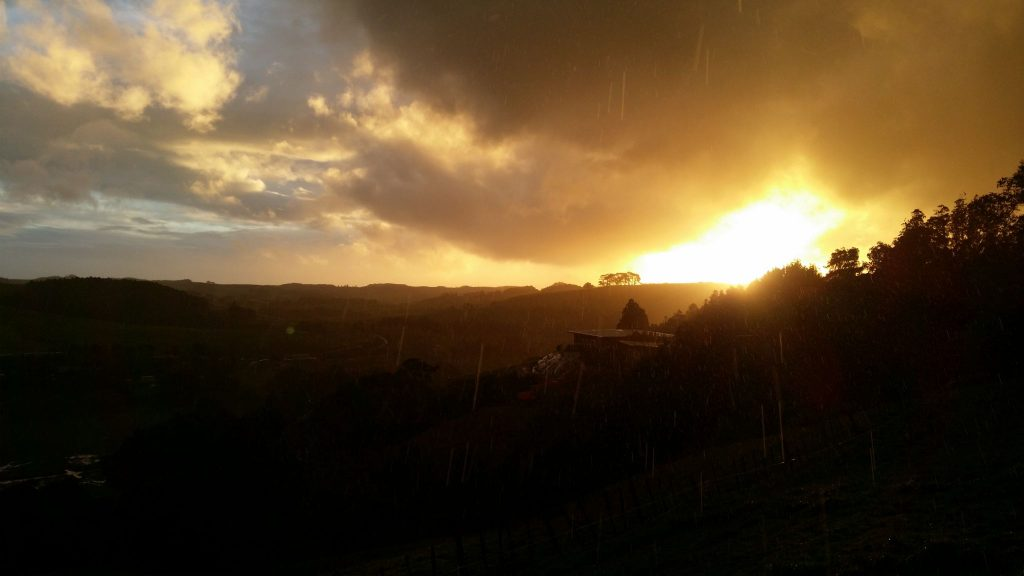 This is a picture I have just taken from the deck just after a big downpour. Still raining but what a scenery.