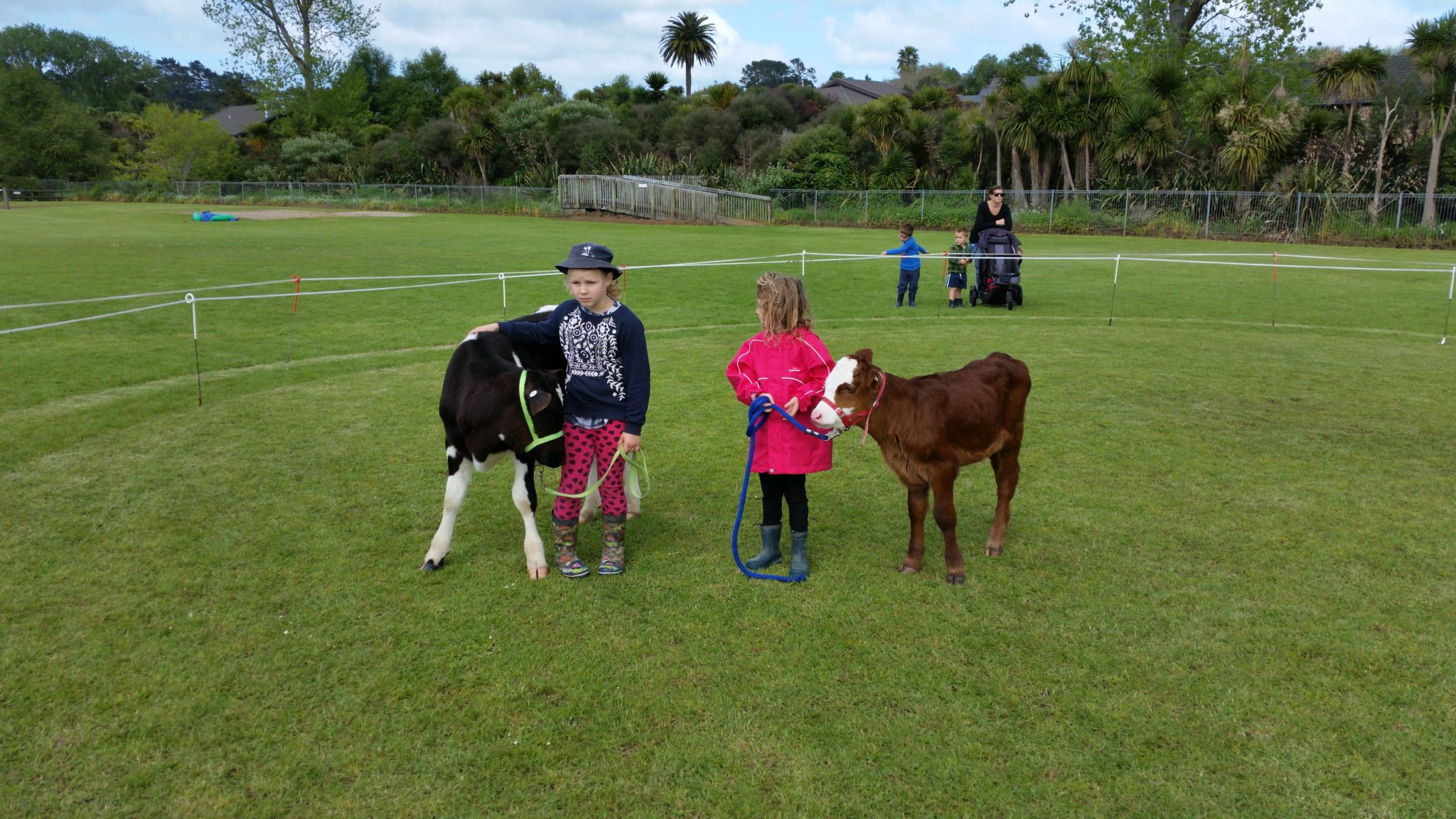 Both junior calf handlers on the day