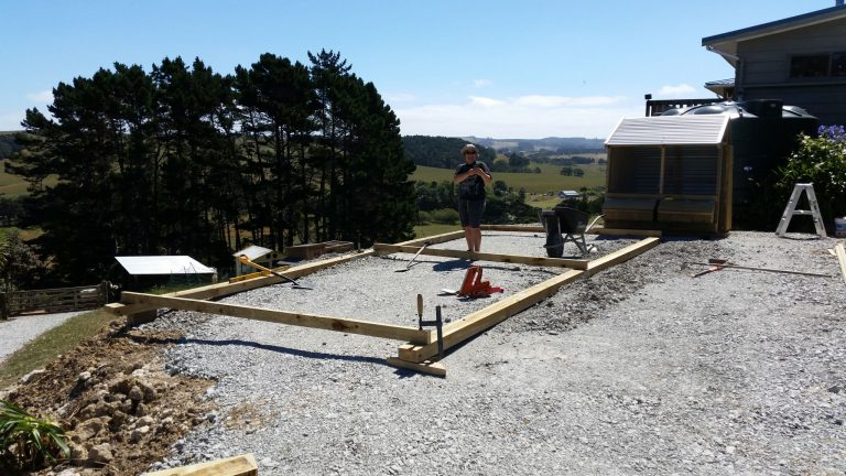 Foundations in, framing up