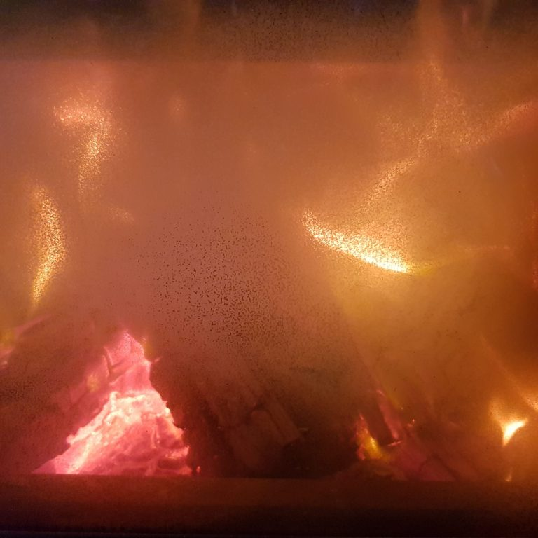Image of fire in the fireplace