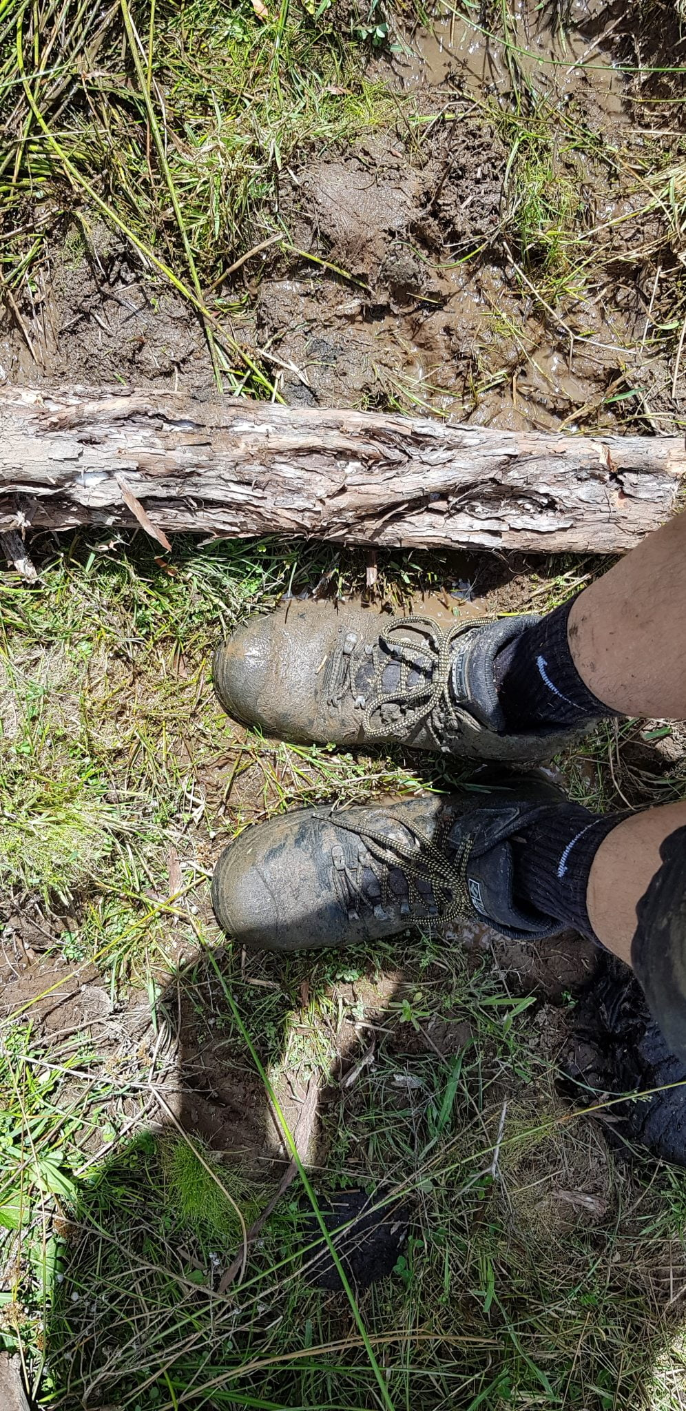 Photo of muddy boots